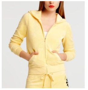 Juicy Couture Yellow Terry Tracksuit Hoodie Pant Set