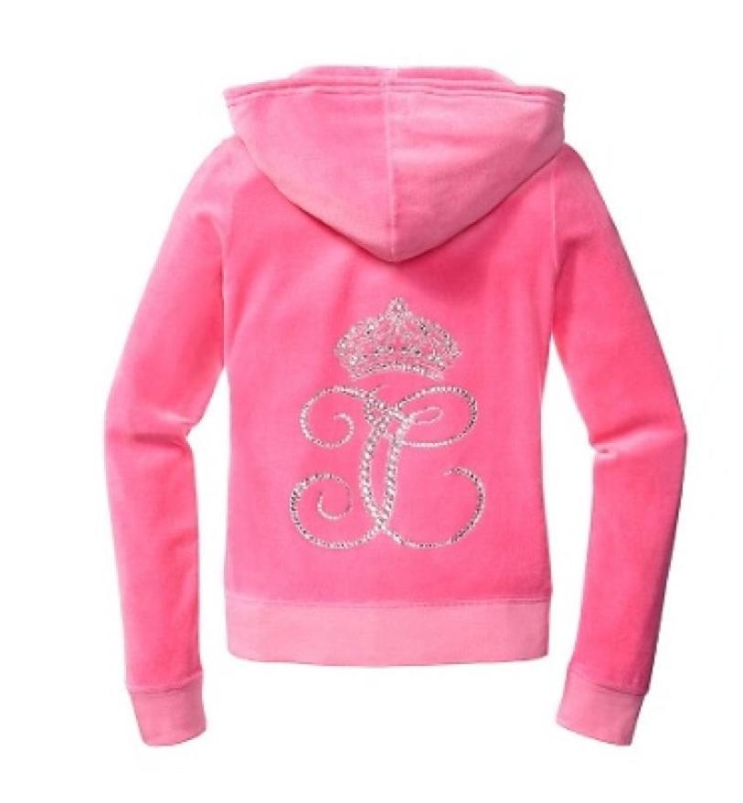 Juicy Couture Ornate Monogram Velour Hoodie Pants Tracksuit