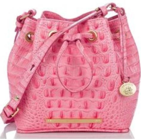 BRAHMIN Pink Lychee Melbourne Lexie Crossbody Shoulder Bag