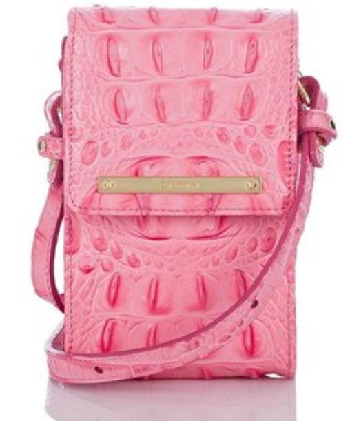 BRAHMIN Pink Lychee Melbourne Universal Crossbody Shoulder Bag