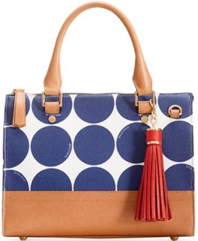 Brahmin Anywhere Convertible Satchel Blue Americana
