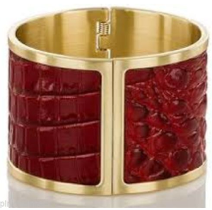 Brahmin Large Cuff Melbourne Ruby Red Bangle