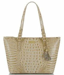 BRAHMIN Medium Asher Champagne Melbourne Tote Bag
