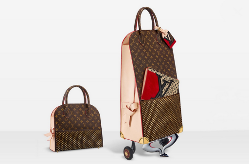 Louis Vuitton Celebrating Monogram Christian Louboutin Shopping Trolley