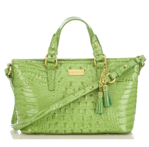Brahmin MIni Asher Aloe Glossy Bag