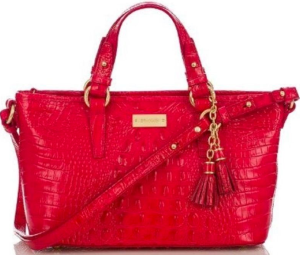 Brahmin Mini Asher Red Tote Bag