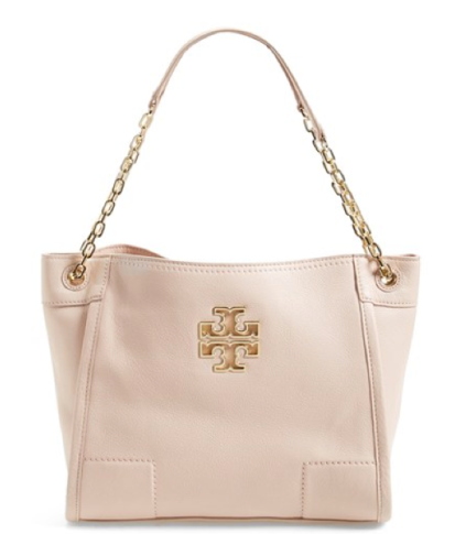 Tory Burch Small Britten Leather Tote